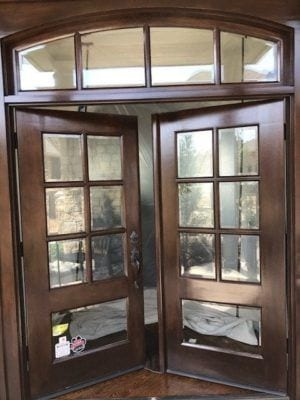 Door Staining
