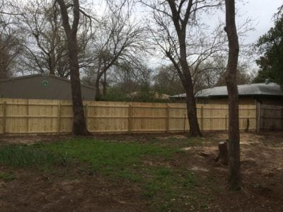 New pine wood fence.
